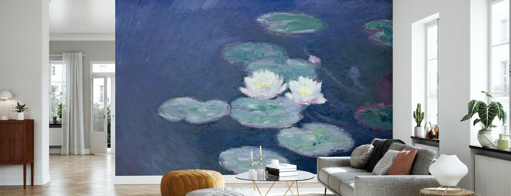 Waterlilies - Claude Monet - Wallpaper - Living Room