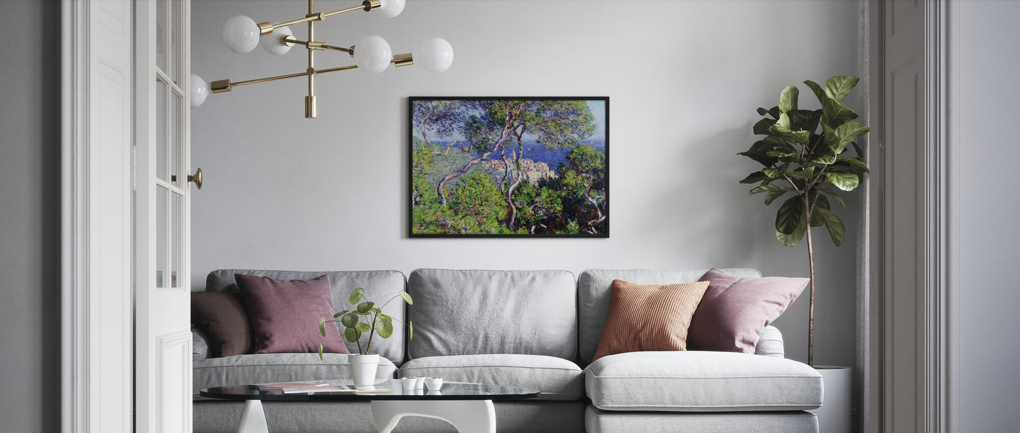 Bordighera -  Claude Monet - Affiche - Salle à manger