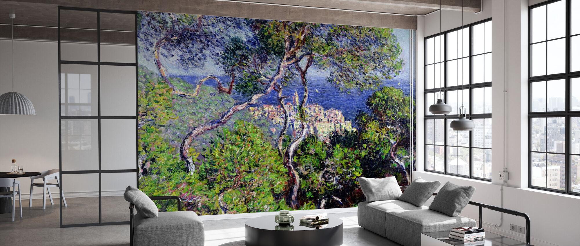 Bordighera -  Claude Monet - Tapete - Büro