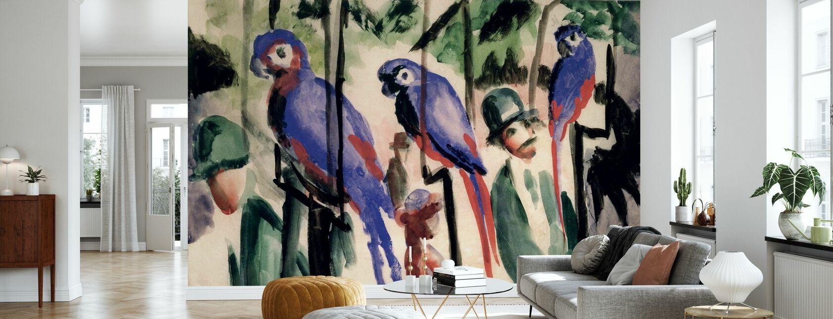 Blå papegøyer - August Macke - Tapet - Stue