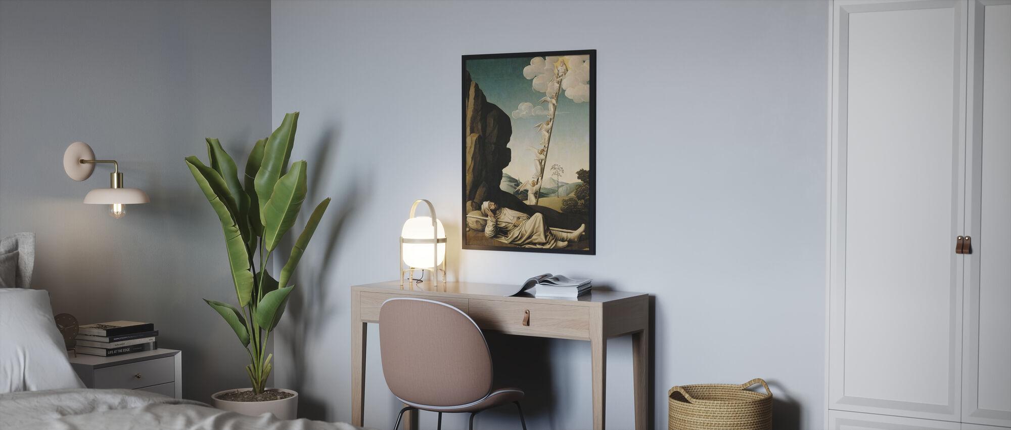 Jacob's Ladder - Franse School - Ingelijste print - Slaapkamer