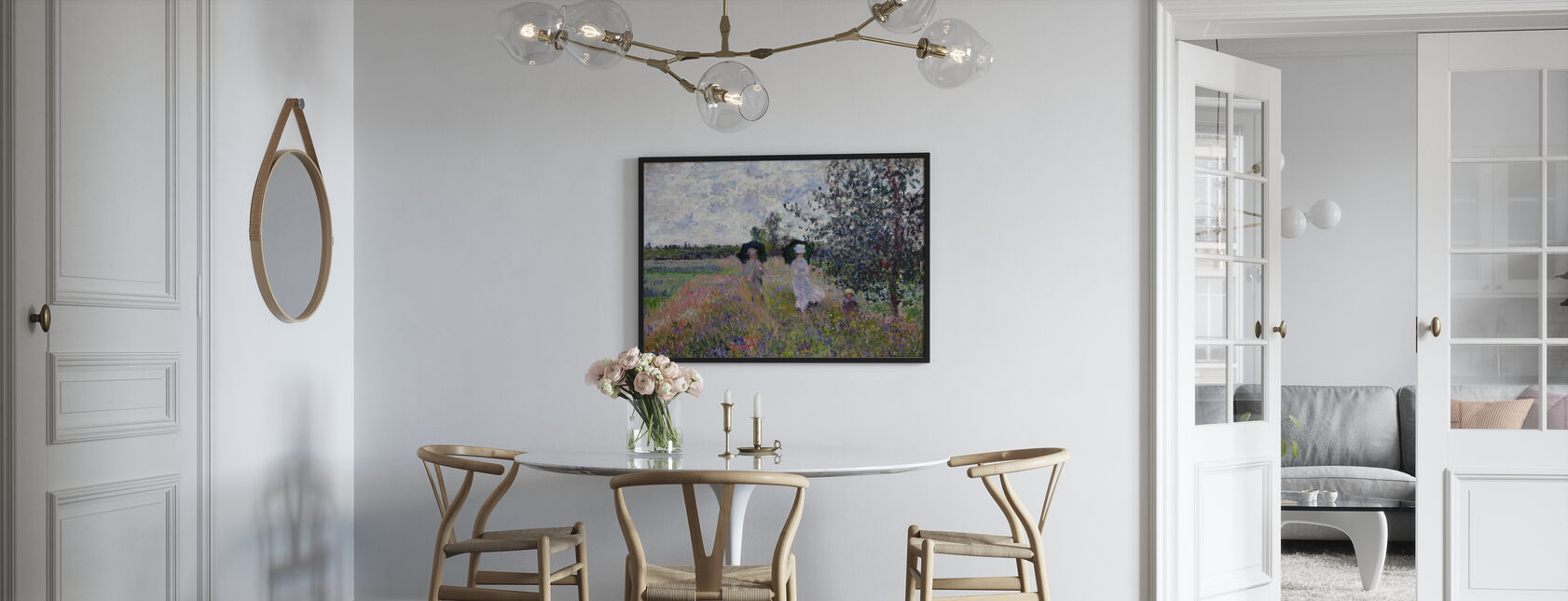 Promenade - Claude Monet - Kehystetty kuva - Keittiö