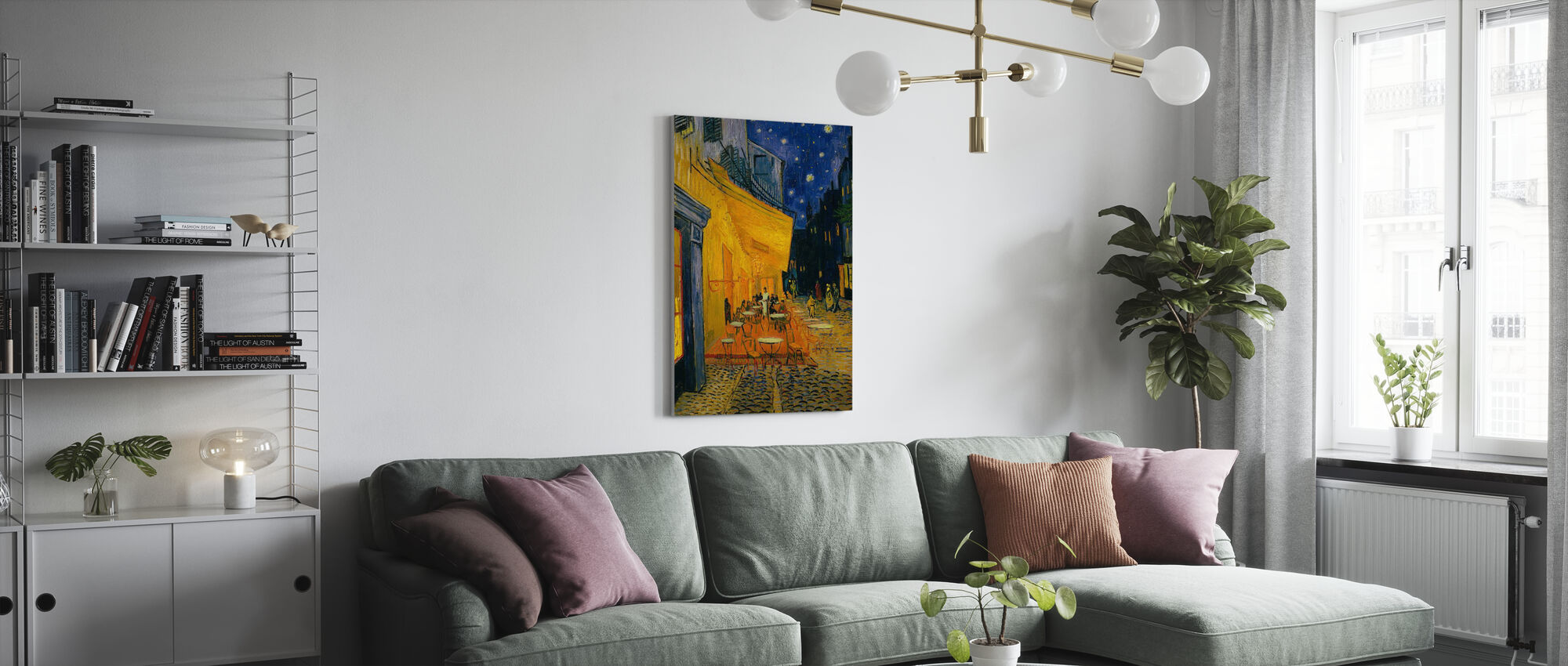 Cafe Terrace - Vincent van Gogh - Canvas print - Living Room