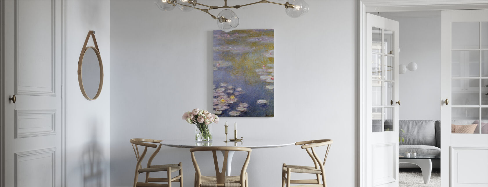 Monet, Claude - Nympheas at Giverny - Canvas print - Kitchen