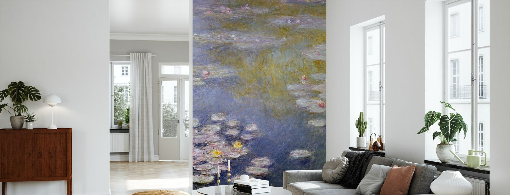 Monet, Claude - Nympheas at Giverny - Wallpaper - Living Room