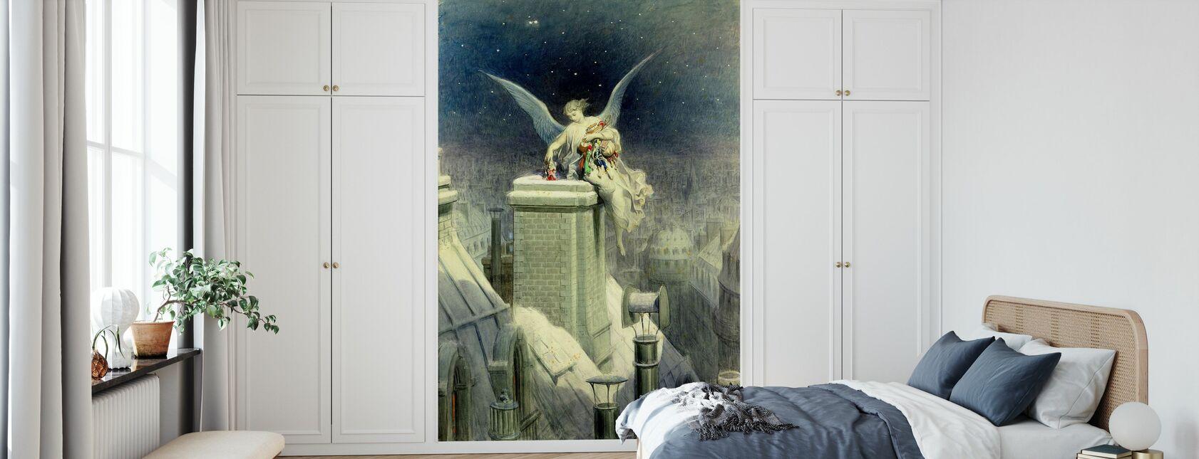 Vigilia di Natale - Gustave Dore - Carta da parati - Camera da letto