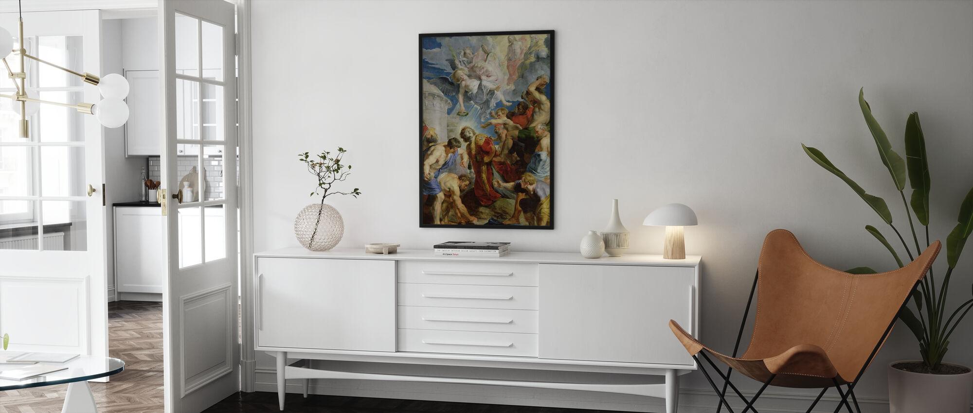 Steniging van Sint-Stefanus - Peter Rubens - Ingelijste print - Woonkamer