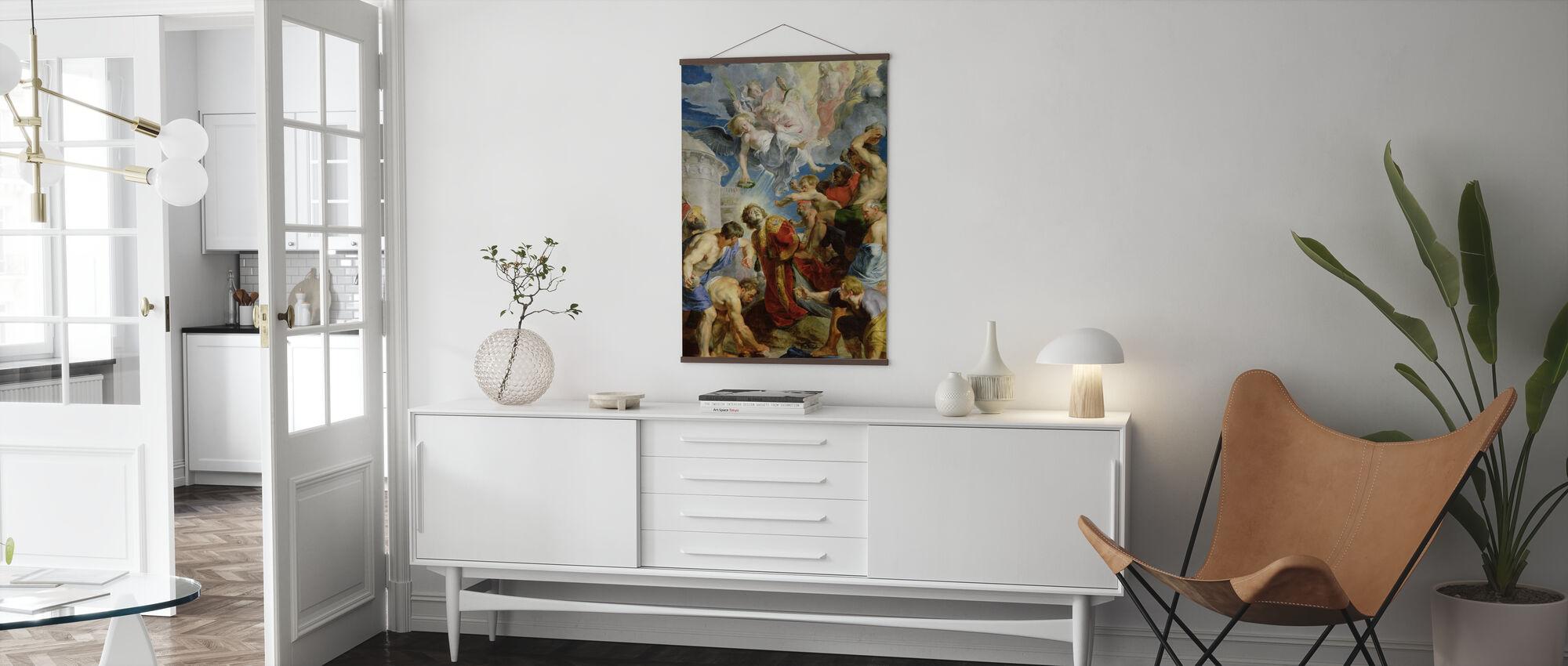 Pyhän Tapanin kivittäminen - Peter Rubens - Juliste - Olohuone