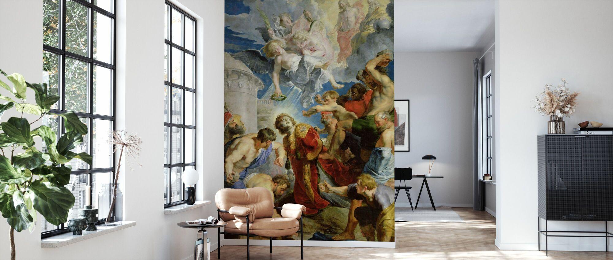 lapidazione di Santo Stefano - Peter Rubens - Carta da parati - Salotto