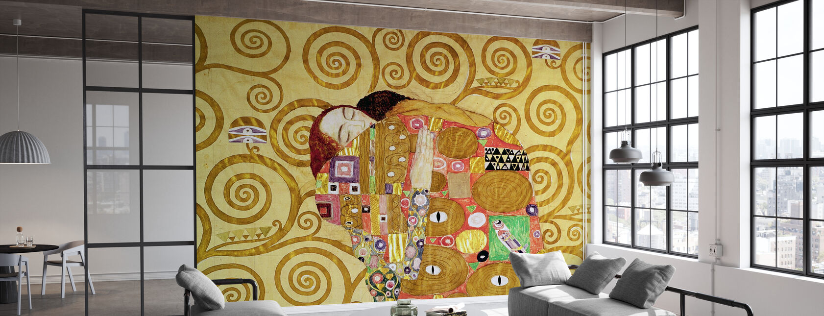 Realizzazione - Gustav Klimt - Carta da parati - Uffici