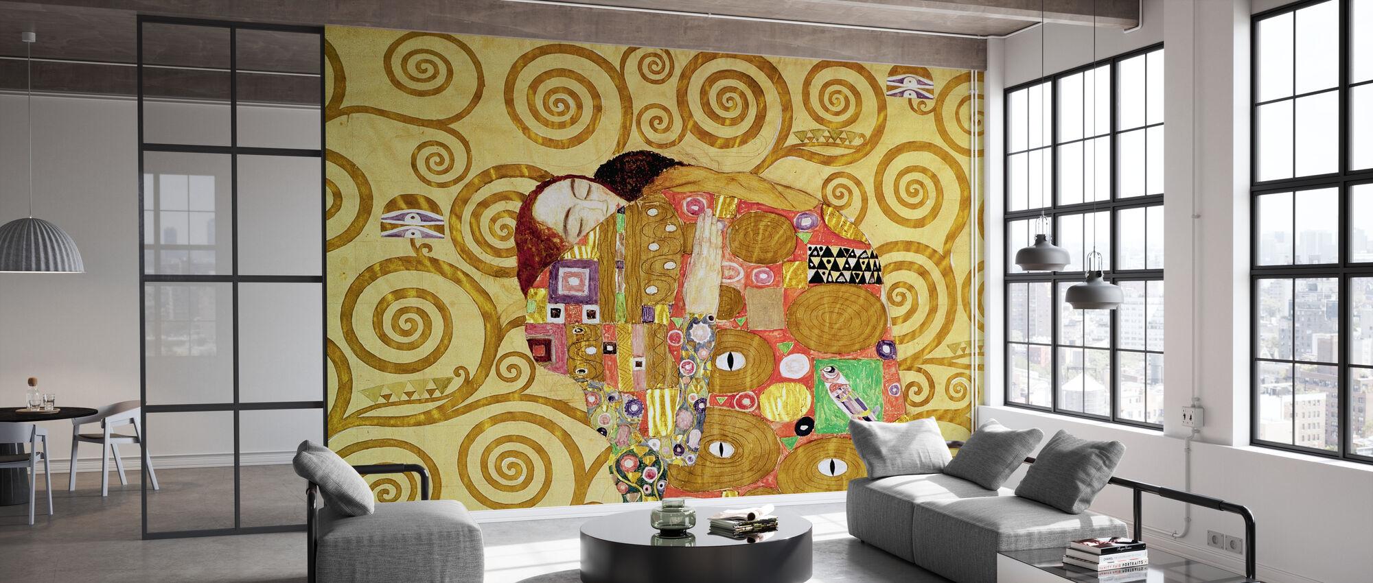 Fulfilment - Gustav Klimt - Wallpaper - Office