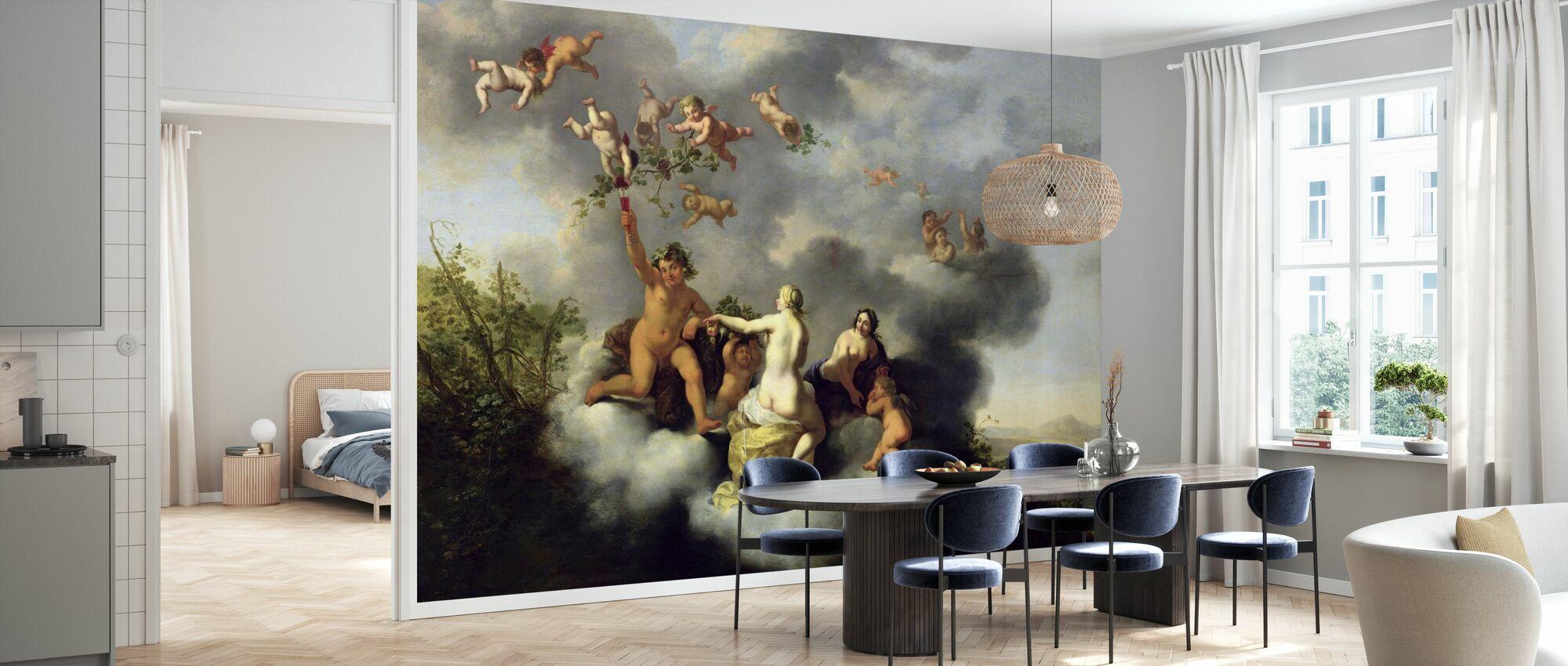 Venus og Cupid - Cornelis van Poelenburgh - Tapet - Kjøkken