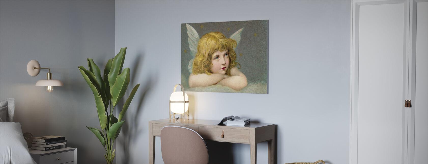 Lille Engel - Billede på lærred - Kontor