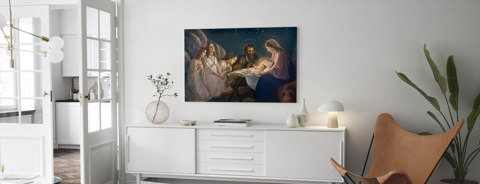 Josef og Maria - Lerretsbilde - Stue