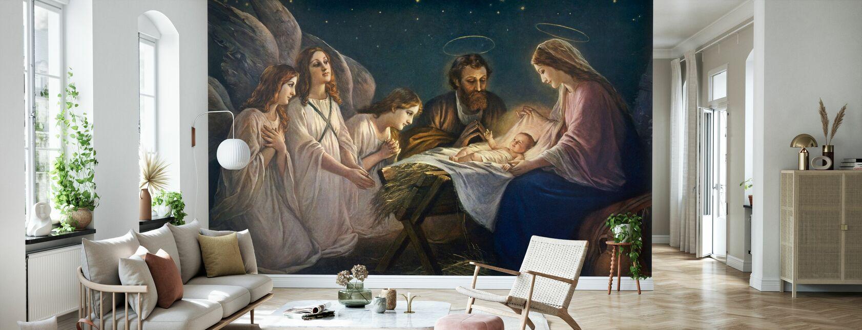 Josef og Maria - Tapet - Stue