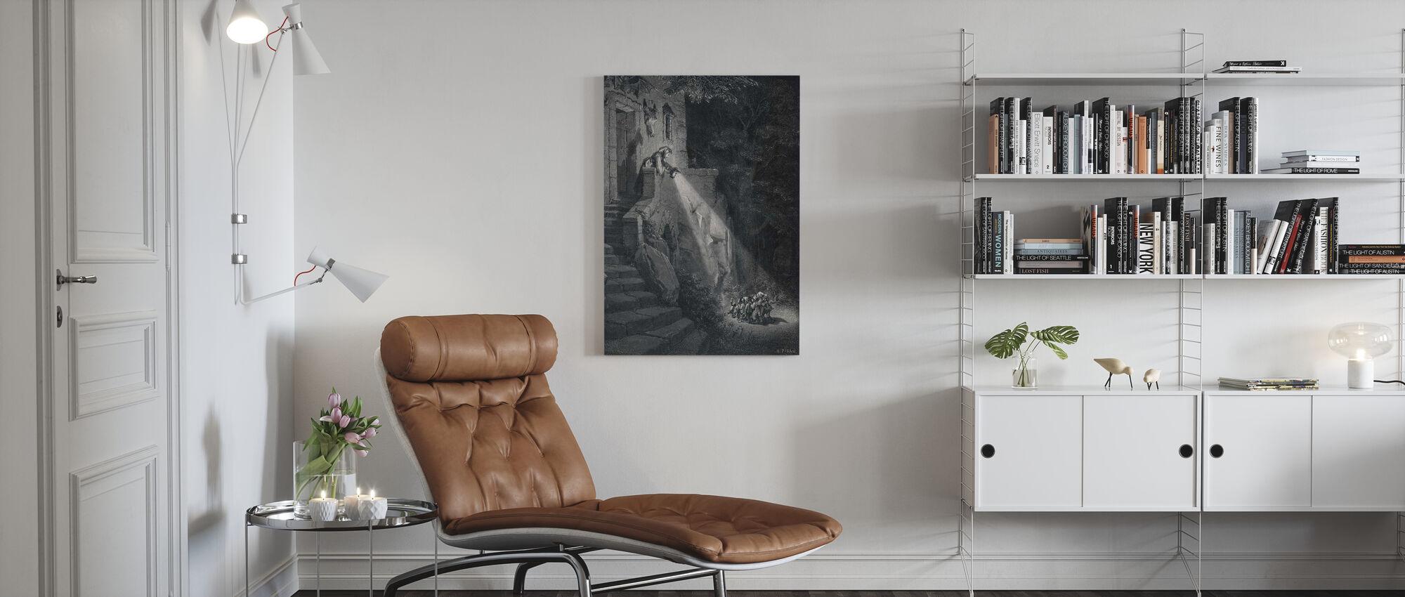 Gustave Dore - Ogre in het bos - Canvas print - Woonkamer