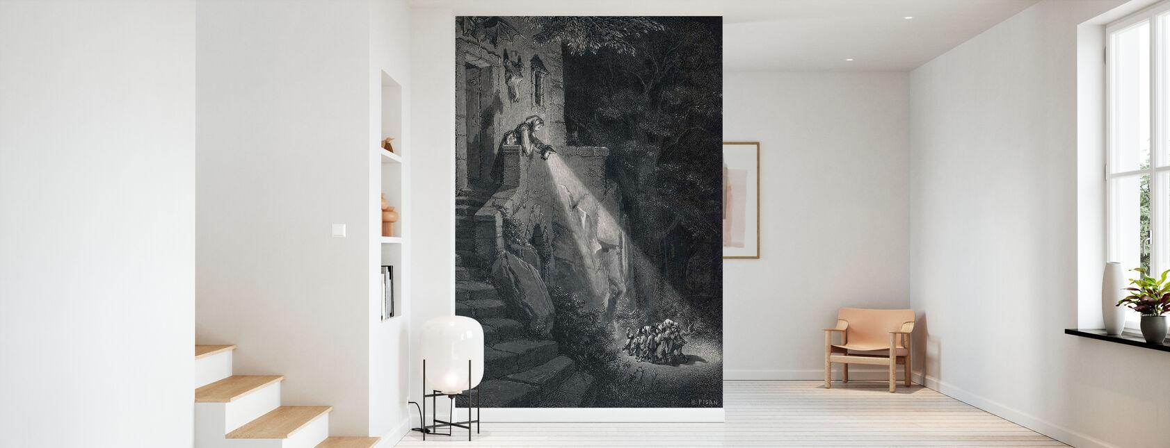 Gustave Dore - Ogre dans la forêt - Papier peint - Entrée