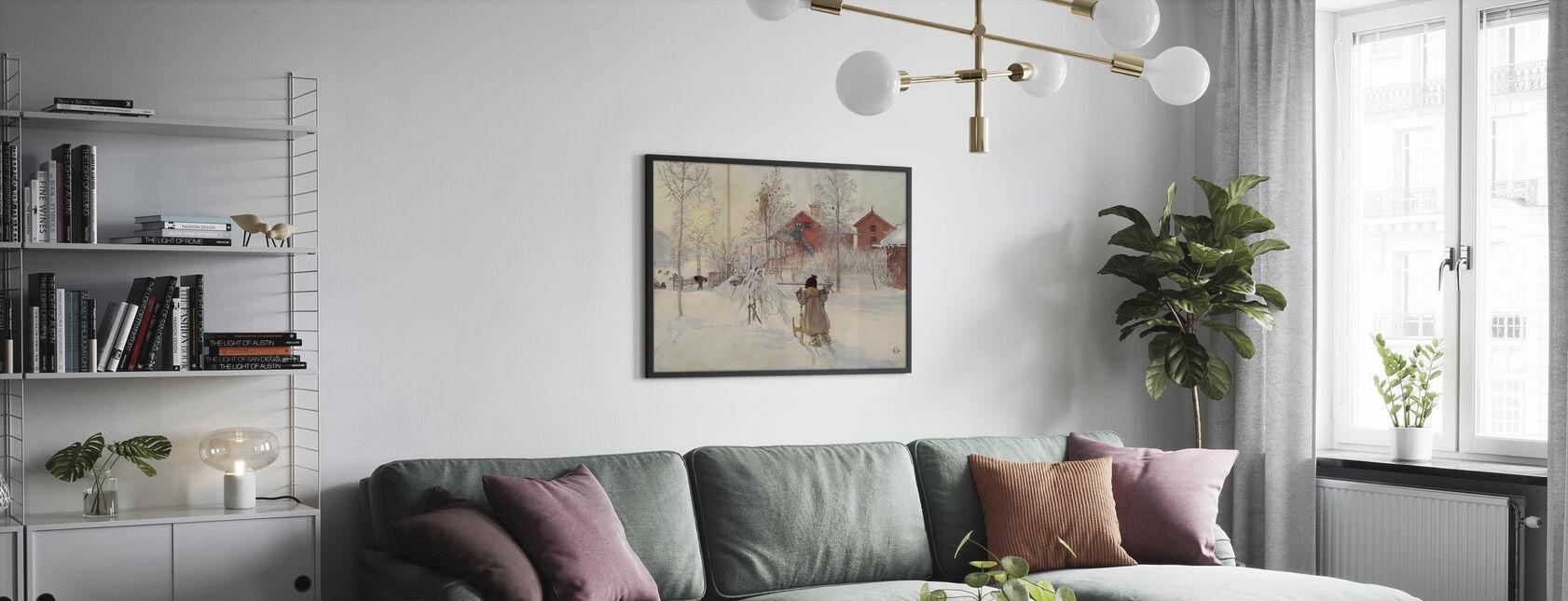 Carl Larsson - Garden and Bruges House - Poster - Living Room