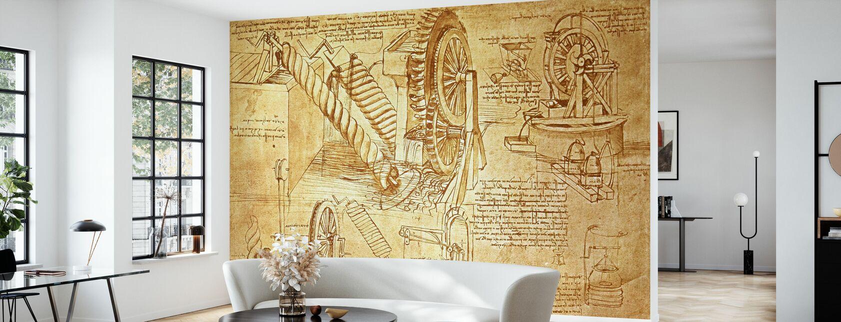 Leonardo da Vinci - Atlanticus - Papier peint - Salle à manger