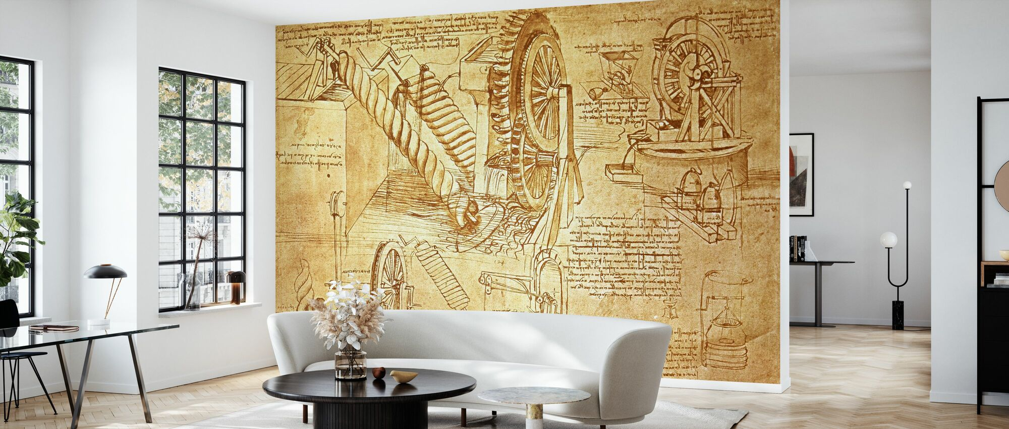 Leonardo da Vinci - Atlanticus - Wallpaper - Living Room