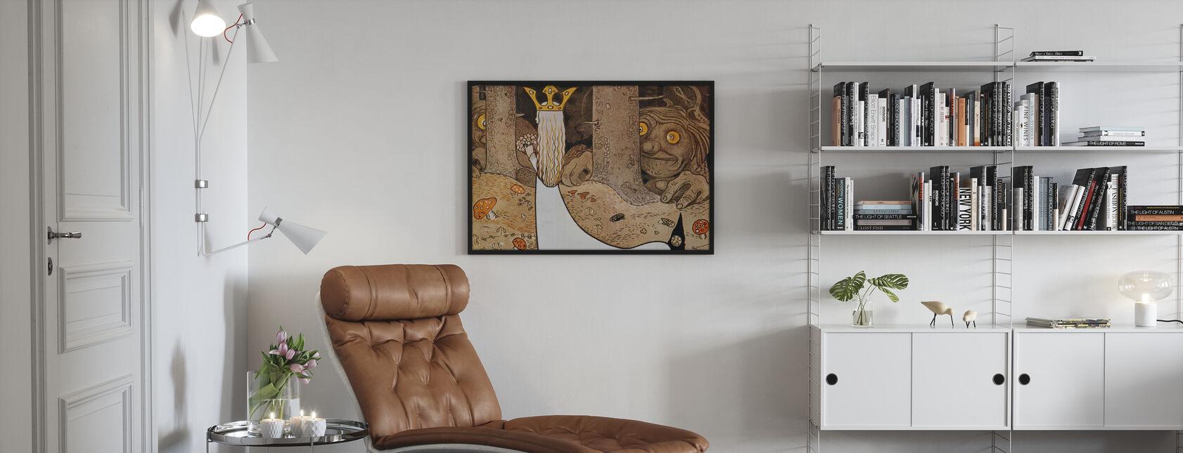 John Bauer - Prinsessa ja Vaunu - Kehystetty kuva - Olohuone