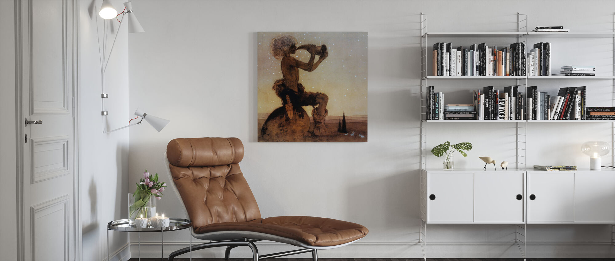 John Bauer - Vil-Vallareman - Canvas print - Woonkamer