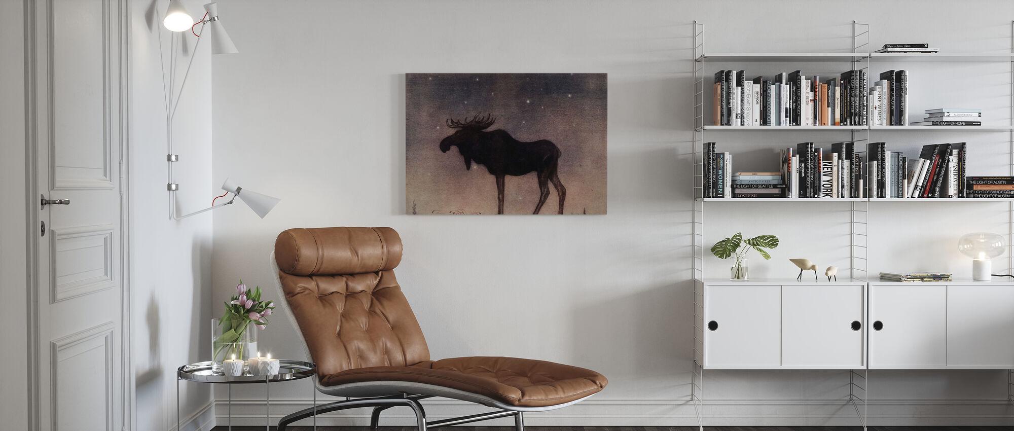 John Bauer - Älgtjuren - Canvas print - Living Room
