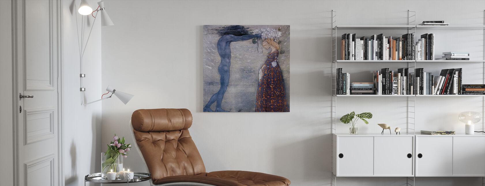 John Bauer - Agneta en de jacht op zee - Canvas print - Woonkamer