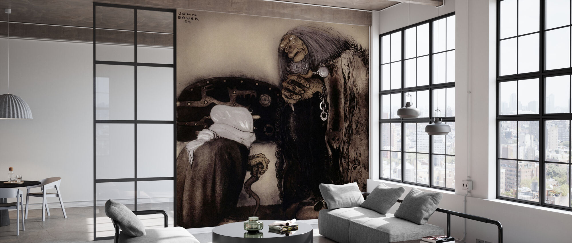 John Bauer - The Four Trollers - Wallpaper - Office