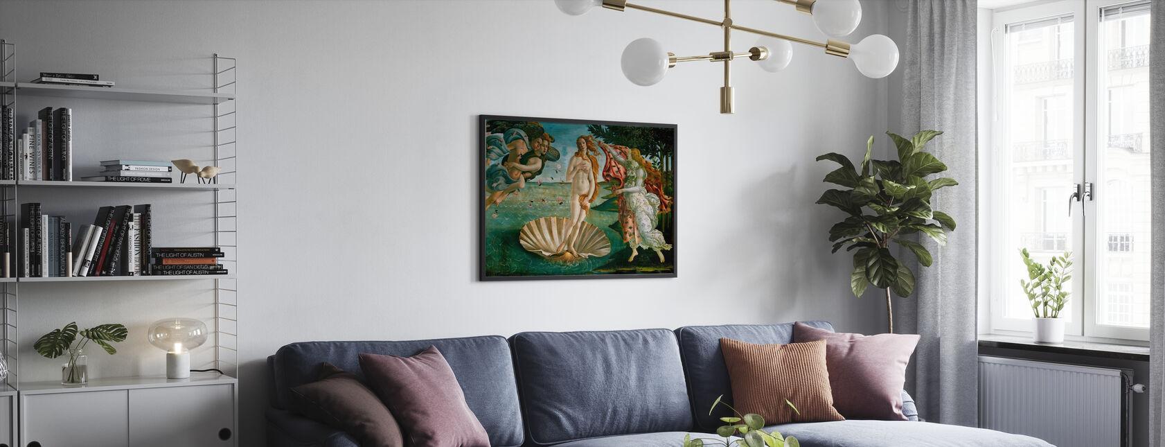 Sandro Botticelli - Geburt der Venus - Poster - Wohnzimmer
