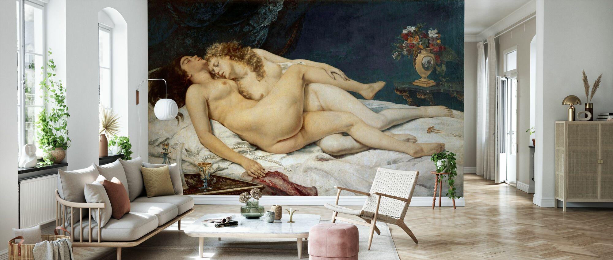 Gustave Courbet - Søvn - Tapet - Stue