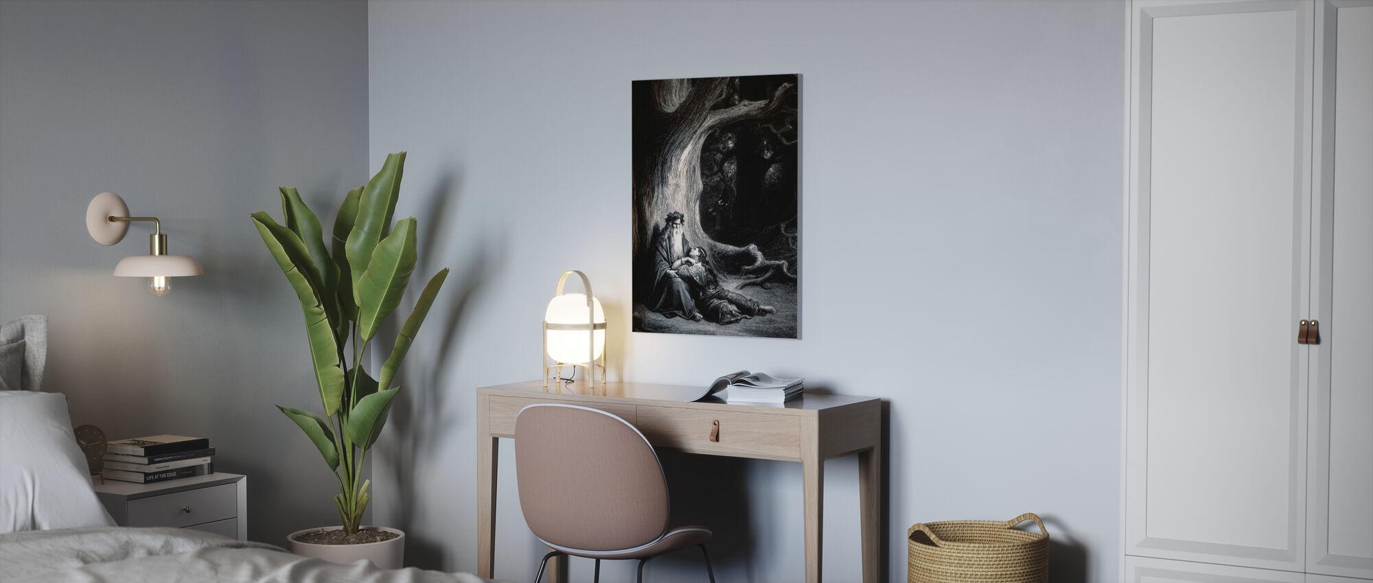 Gustave Dore - Erovringen av Graal - Canvas print - Office