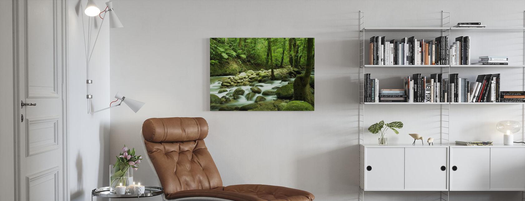 Mountain Waterfall - Canvas print - Living Room