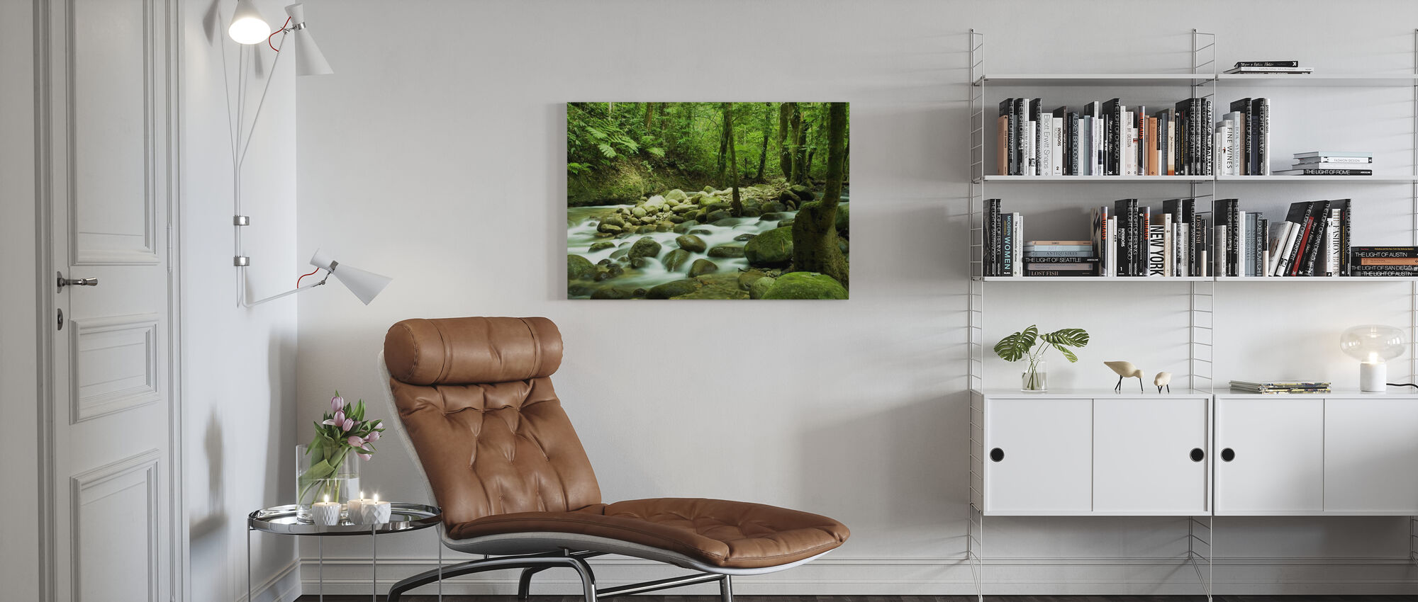 Mountain Waterval - Canvas print - Woonkamer