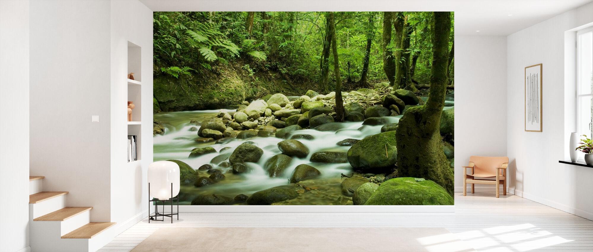 Mountain Waterfall - Wallpaper - Hallway