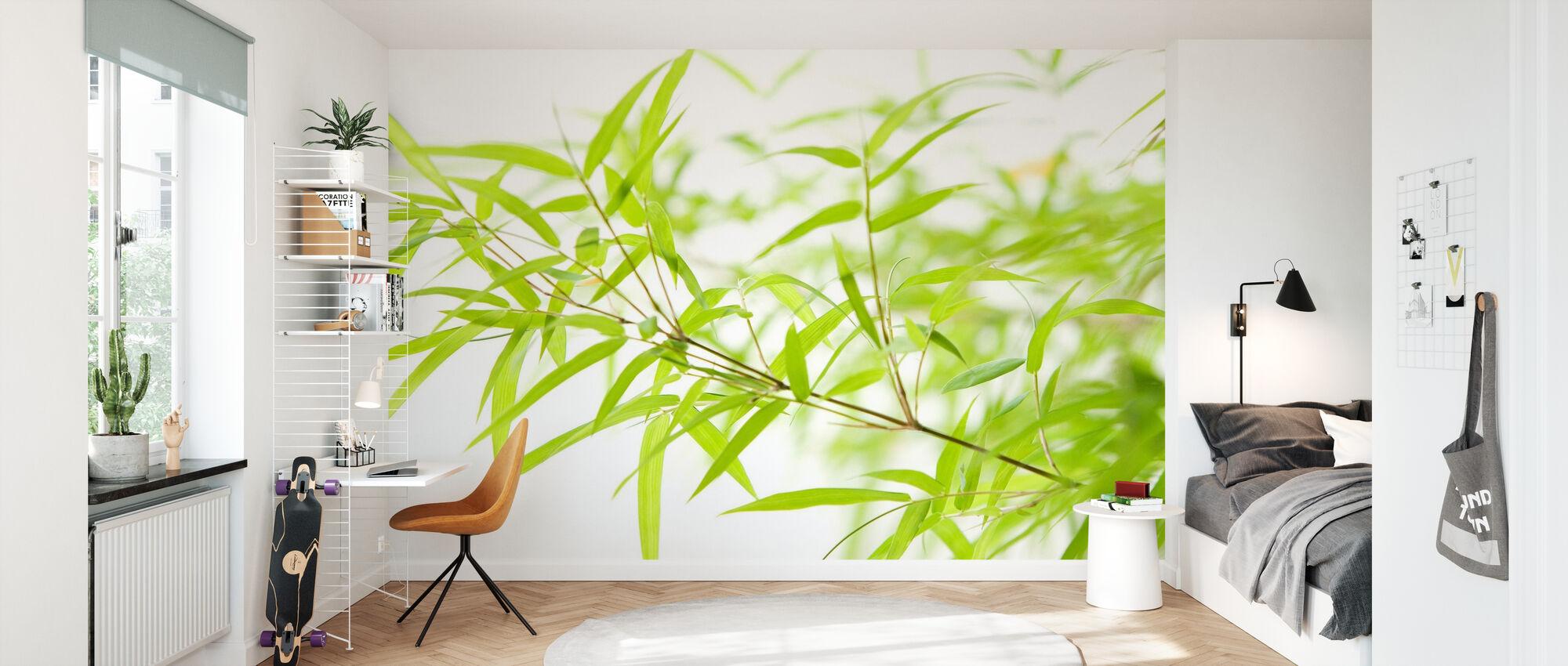 Miniatur-Bambus - Tapete - Kinderzimmer