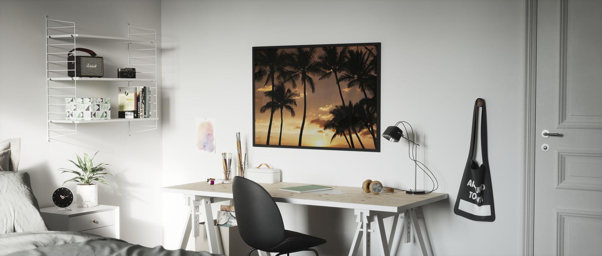 Hawaii Sunset - Framed print - Kids Room