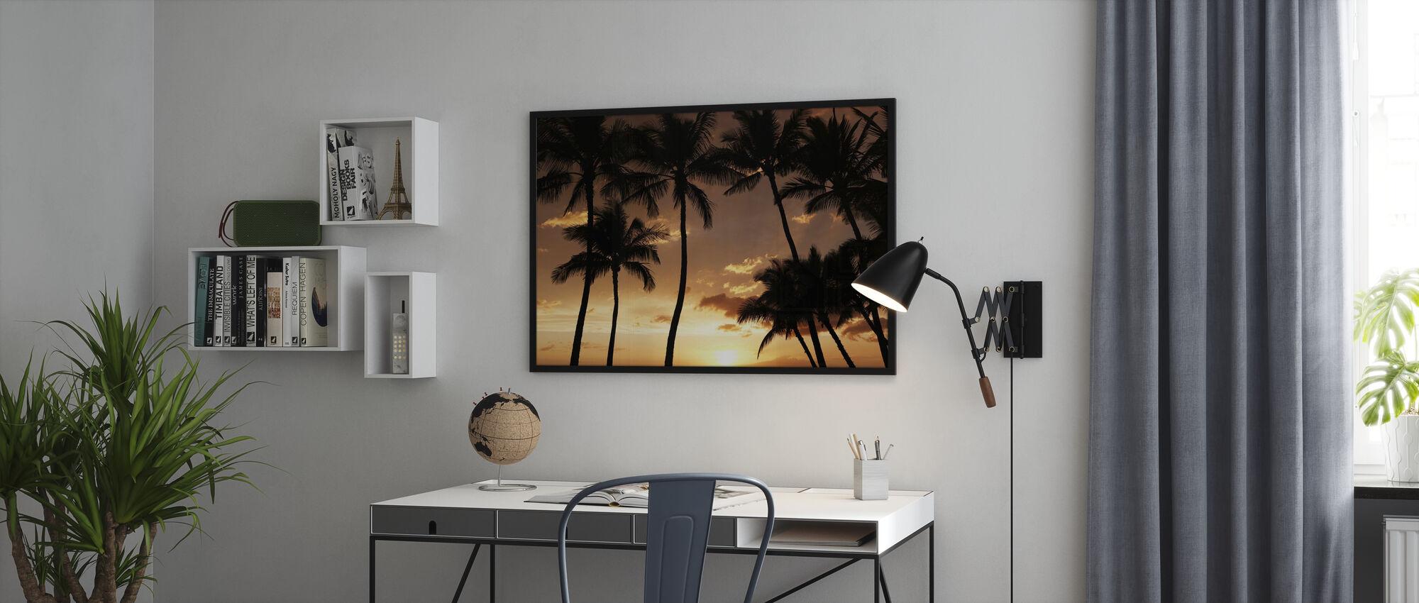 Hawaii Sonnenuntergang - Poster - Büro