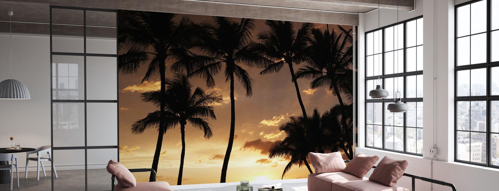 Hawaii Sonnenuntergang - Tapete - Büro