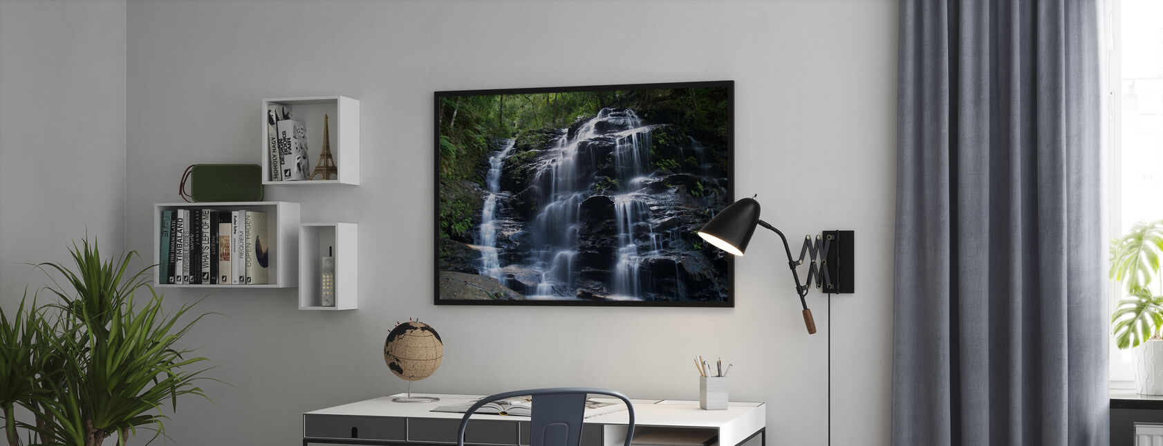 Amazon Waterfall - Framed print - Office