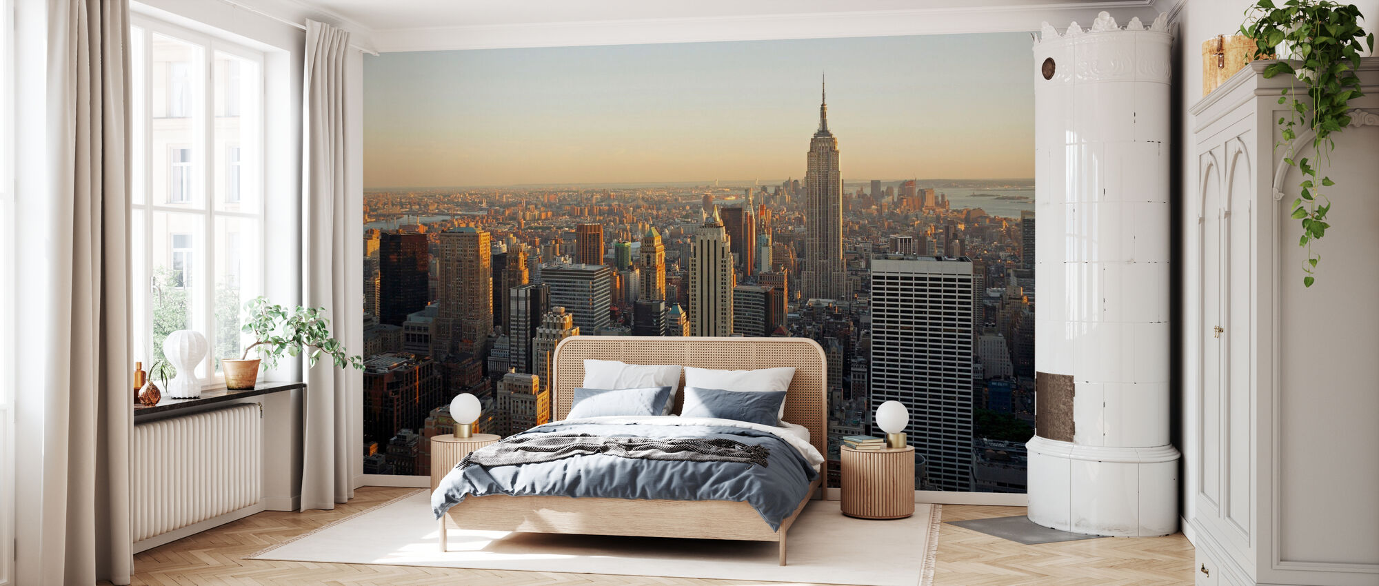 New York City, New York - Tapete - Schlafzimmer