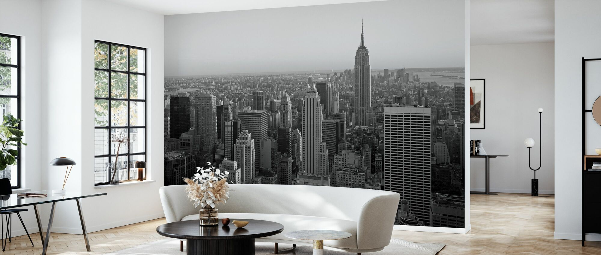 New York City, New York - Wallpaper - Living Room