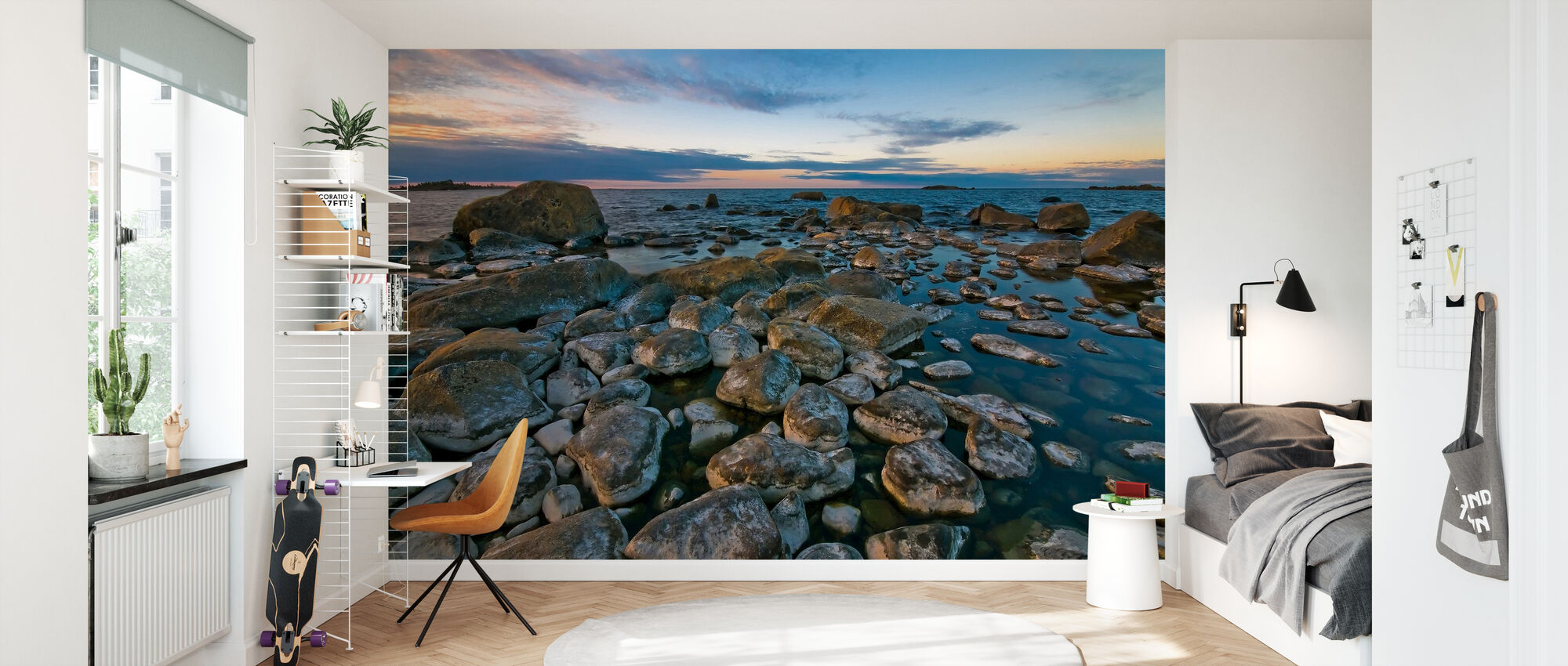 Swedish Shoreline - Wallpaper - Kids Room