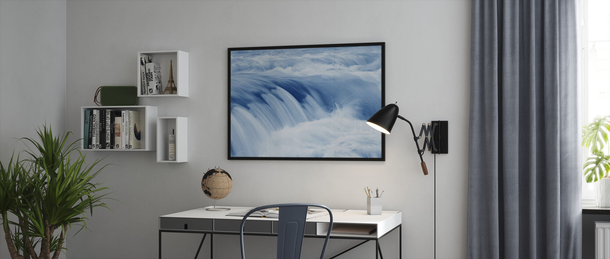 Swiftly Moving Stream - Poster - Office