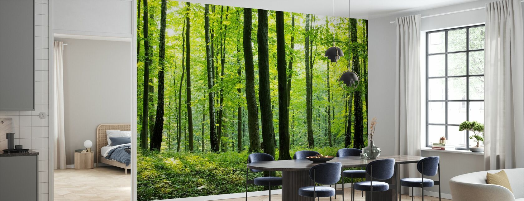 Rural Forest - Wallpaper - Kitchen