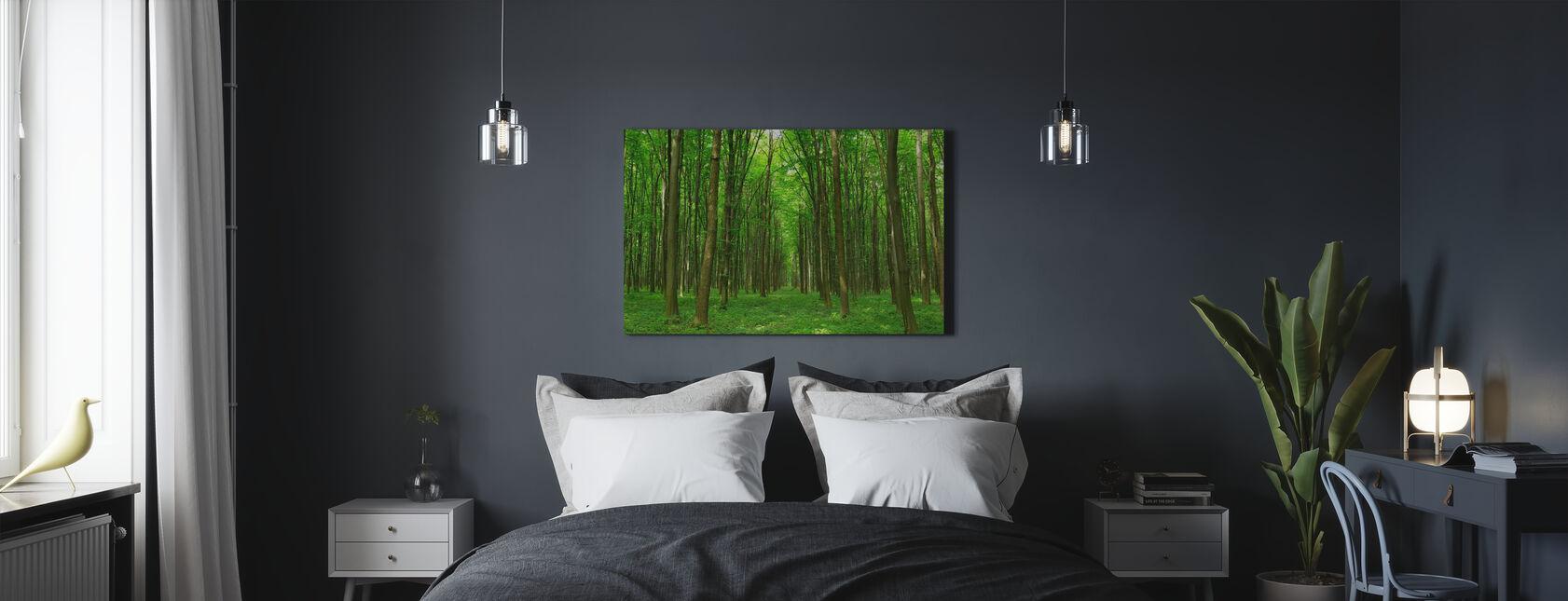 Green Passage - Canvas print - Bedroom
