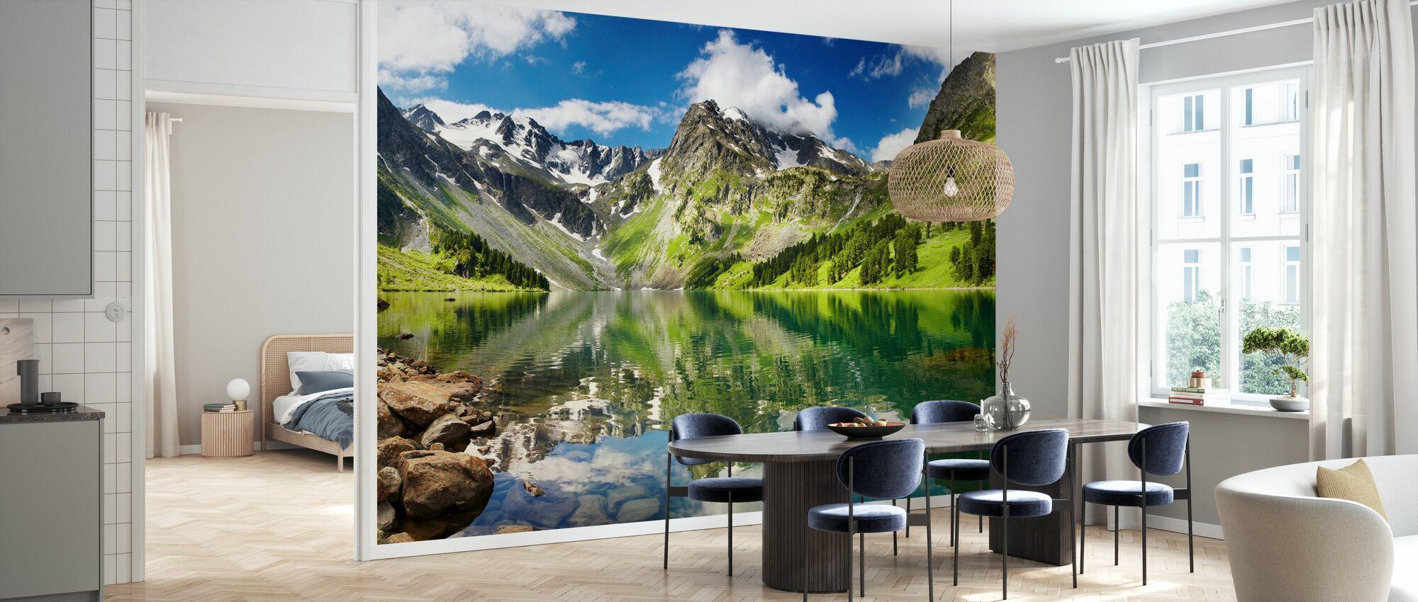 Mountain Lake - Wallpaper - Kitchen