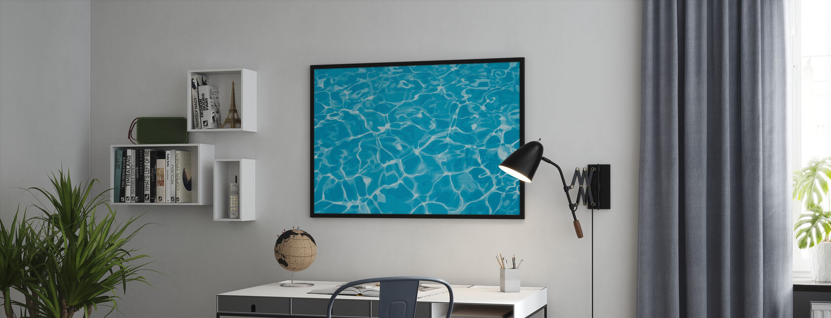 Reflection in Water - Framed print - Office