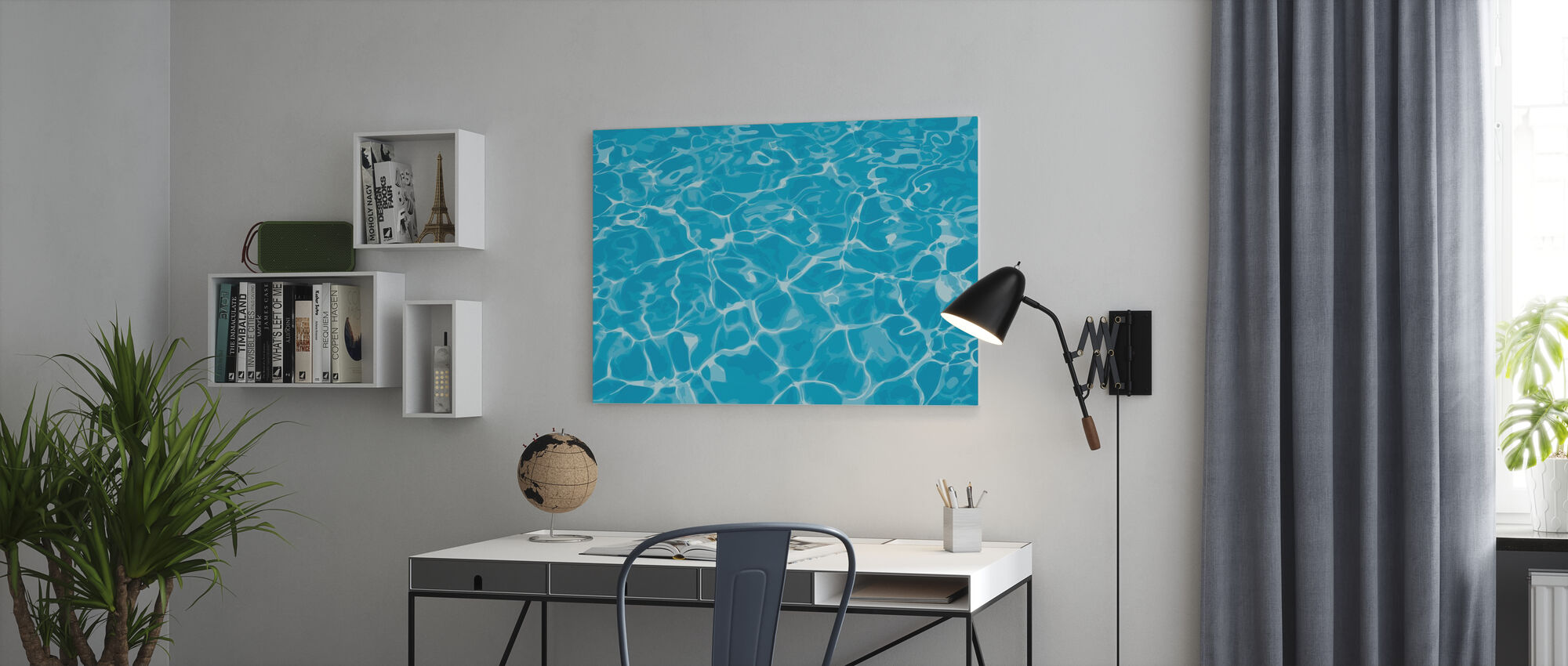 Reflection in Water - Canvas print - Office
