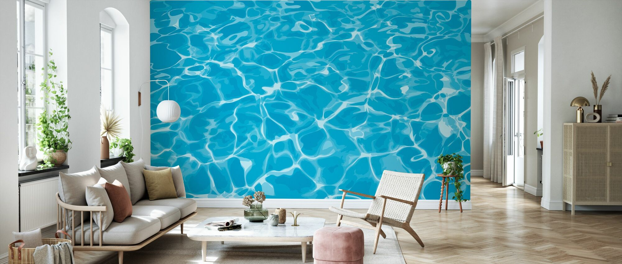 Reflection in Water - Wallpaper - Living Room